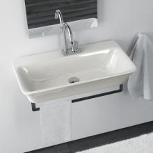 Waschbecken hängend montiert