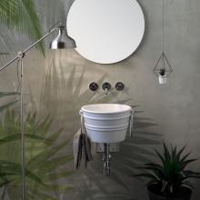 Rundes Aufsatzbecken/wandhängend Waschbecken Bacile Midi  Weiß