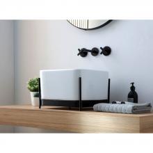 Waschbecken mit Struktur Ibrido Quadrat