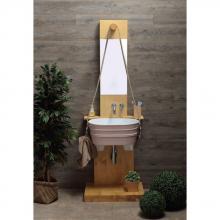 Oval Aufsatzbecken/wandhängend waschbecken Tinozza Mattrosa Aquarell