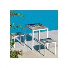 Tisch und Hocker aus Lavastein Friends Maui