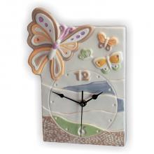 Clock Schmetterling Rechteckig 22x30 cm
