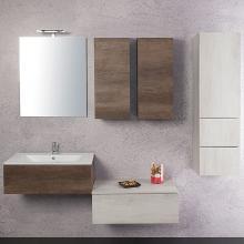 Wand-Badezimmer Zusammensetzung Unika 195 weiße und dunkle Ulme