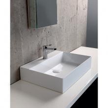 Wand-hing/arbeitsplatte Waschbecken cm 60 Elegance Squared