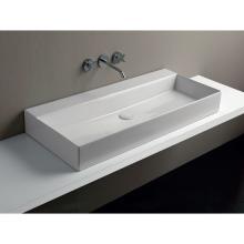 Wand-hing/arbeitsplatte Waschbecken cm 102 Elegance Squared