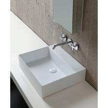 Wand-hing/arbeitsplatte Waschbecken cm 50 Elegance Squared