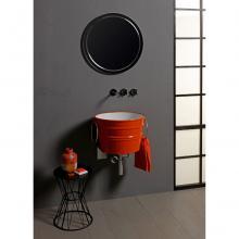 Rundes Aufsatzbecken/wandhängend Waschbecken Bacile Glänzend Energie Orange