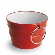 Rundes Aufsatzbecken/wandhängend Waschbecken Bacile Glänzend Leidenschaft rot