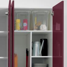 Wäschesäule zwei Türen mit Regalen und Behältern Colf