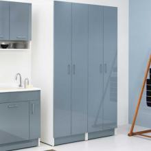 Wäschesäule 2 Türen und 6 interne Regale Brava Blau