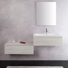 Wand-Badezimmer Zusammensetzung cm 160 Unika White Ulme