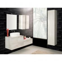Wandgehängte Badezimmer-Zusammensetzung Unika 140 weiße Ulme