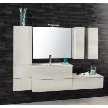 Wandgehängte Badezimmer-Zusammensetzung Unika 185 weiß ulme