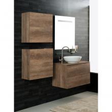 Wandgehängte Badezimmer-Zusammensetzung Unika 80 dunkel ulm