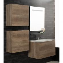 Wandgehängte Badezimmer-Zusammensetzung Unika 160 natürliche Ulme