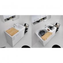 Inner Waschwanne mit Wäschekorb 100x55xH89 Active Wash Statisch