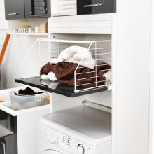 Wäschesäule mit Waschmaschinenraum und Wäschekorb Brava