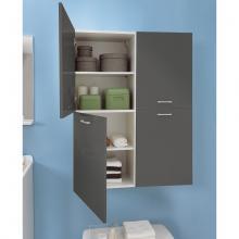 Wäschesäule mit zwei linken Türen und vier internen Regalen Brava
