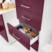 Wäschesäule mit linker Tür und Schubladen Brava