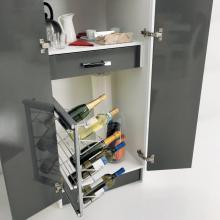 Wäschesäule mit zwei Türen, zwei Behältern, Tisch und Weinkeller Colf