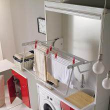 Holztrockner für Waschtische und Waschmaschinenschrank Stender Weiß