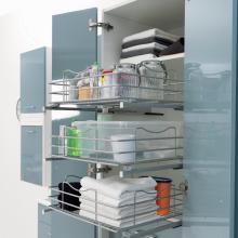 Wäschesäule mit 2 Türen 3 Behälter 1 Schublade Colf
