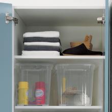 Wäschesäule zwei Türen mit Wäscheständer Colf