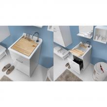 Indoor Waschwanne 45x60xH86 mit Wäschekorb Jollywash