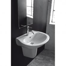 Waschbecken mit Halbsäule Krio