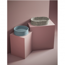 Arbeitsplatte rundes Waschbecken diam.44 cm Atelier Marmi & Graniglie