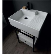 Waschtischstruktur mit Schublade cm 60x50xH70 Quadrello