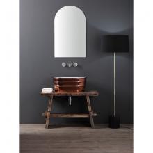 Oval Aufsatzbecken/wandhängend Waschbecken Tinozza glänzendes Kupfer
