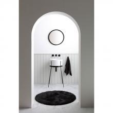 Waschbecken mit Struktur Ibrido Runde Weiß