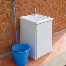 Waschbecken im Freien mit Schrank mit einer Tür Lemon