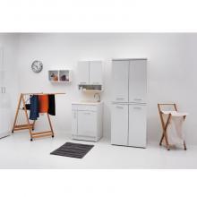 Innenwaschtisch 60x60x86 cm mit Waschbecken und Wäschekorb Jollywash