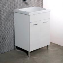 Weiße Wäscheeinheit + Keramik Corallo