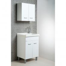 Waschmittel Zusammensetzung Oceano 60x50 mit Keramik Waschbecken und Tisch