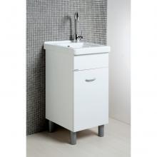 Wäscheschrank Oceano 45x50 mit Keramikspüle und Holztisch