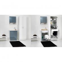 Inner Waschwanne mit Wäschekorb 65x55xH89 Active Wash Statisch