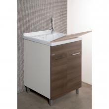 Waschküche mit ABS Badewanne und zwei Türen cm 55x45xH89 Medusa
