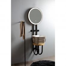 Metallstruktur mit hinterleuchtetem Spiegel Strapuntino