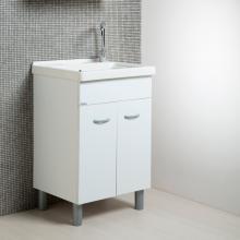 Wäscherei weiße Einheit + Keramik 60x50 Onda