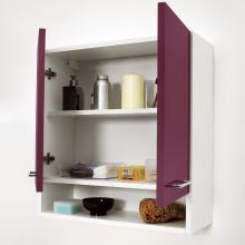 Wäscheschrank mit zwei Türen und Regal 75x24x70 Jolly