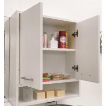 Wäscheschrank mit zwei Türen und Regal 80x24x70 Jolly