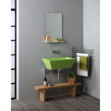 Rechtekig Aufsatzbecken/wandhängend waschbecken PIetra Impuls Grün