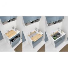 Inner Waschwanne mit Wäschekorb 75x50xH86 Lindo