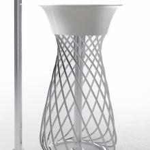 metallischen Struktur Wire Weiß