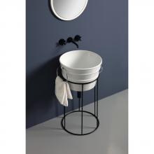 Hoher Waschbeckenschrank aus Eisen Tinozza