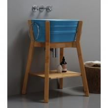 Hoher Waschbeckenschrank aus Holz Tinozza
