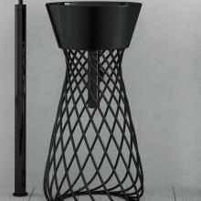 metallischen Struktur Wire Schwarz